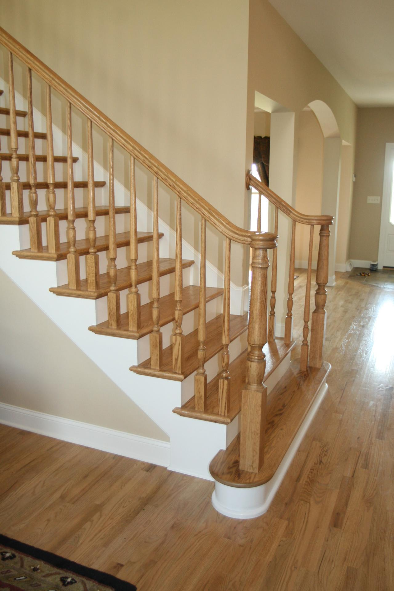 Paid A Contractor To Install A Newel Post Railing And